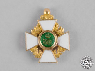 Luxembourg. An Order of the Oaken Crown, Miniature