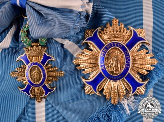 Spain, Franco Period. An Order of Civil Merit, Grand Cross set, by Cejalvo, c.1950