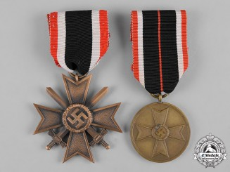 Germany, Wehrmacht. A Pair of Merit Medals