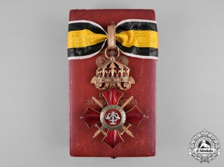 Bulgaria, Kingdom. A Military Merit Order, III Class Commander with Case