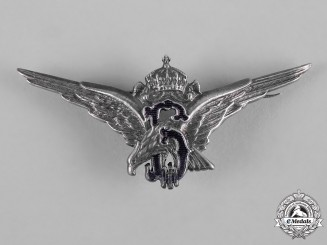 Bulgaria, Kingdom. A Royal Air Force Pilot Badge, c,1937