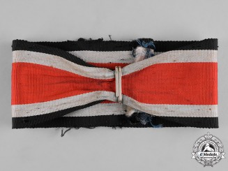 Germany, Wehrmacht. A Neck Ribbon and Suspension Ring for a Knight's Cross of the Iron Cross by Klein & Quenzer
