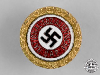 Germany, NSDAP. A Golden Party Badge, Small Version, by Joseph Fuess
