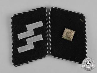 Germany, SS. A Set of Waffen-SS Unterscharführer Collar Tabs, Type 2
