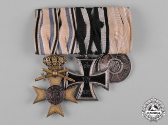 Bavaria, Kingdom. A Military Long Service and Military Merit Medal Bar