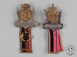 Germany, Imperial. A Pair of Württemberg Warrior Association Membership Badges