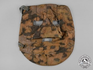 Germany, SS. A Waffen-SS Fall-Pattern Oak Leaf Camouflage Mask