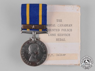 Canada. A Royal Canadian Mounted Police (RCMP) Long Service Medal, to E.T. Salter