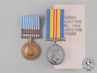 Canada. A Korean Conflict Medal Pair