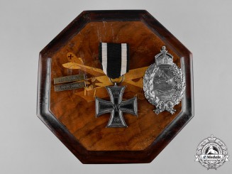 Germany, Imperial. A Prussian Flyers Badge, Decoration, and Wooden Case