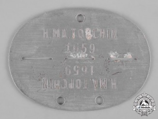 Germany, Heer. A Army Munitions Plant Identification Tag