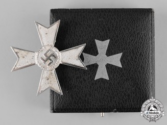 Germany, Wehrmacht. A Cased War Merit Cross, I Class, by Karl Gschiermeister