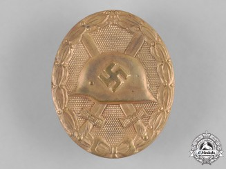 Germany, Wehrmacht. A Wound Badge, Gold Grade, by Glaser & Söhne