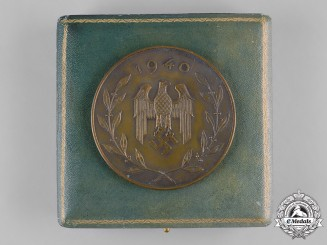 "Germany, Heer. A Cased 1940 Infantry Regiment ""List"" Sports Competition First Place Plaque"
