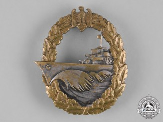 Germany, Kriegsmarine. A Destroyer War Badge