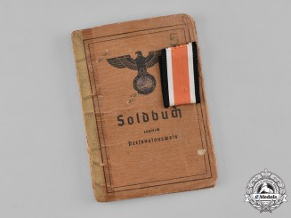 Germany, Heer. A Soldbuch to Oberwachtmeister Beike, 2nd Battery of Panzer Artillery Regiment 19