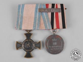 Bavaria, Kingdom. An 1870 Military Campaign Medal Bar