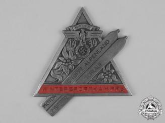 Germany, NSKK. A 1939 Motor Group Alpenland Sports Competition Second Place Slalom Table Medal by Klotz & Kienast