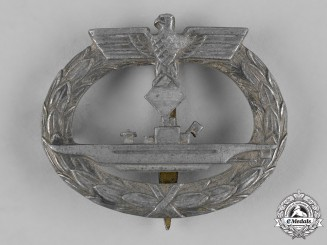 Germany, Kriegsmarine. A U-Boat War Badge, by B.H. Mayer