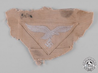 "Germany, Luftwaffe. A EM/NCO's Tropical Tunic Breast Eagle, ""Cut Off"" Version"