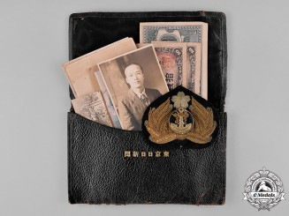 Japan. A Naval Officer's Wallet with Associated Items