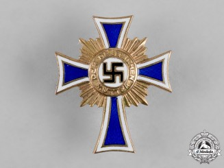 Germany, Third Reich. An Honour Cross of the German Mother in Gold, Miniature Badge