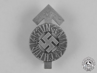 Germany, HJ. A HJ Proficiency Badge, Silver Grade, by Karl Wurster