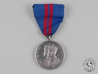 United Kingdom. A King George V and Queen Mary Coronation Medal 1911, Midlothian Coast Artillery Volunteers