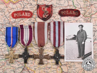 Poland, Republic. A Second War Group Attributed to Marian Andrzej Chroscicki, Free Polish Army