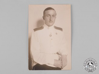 Russia, Imperial. A Photograph of a White Émigré Soldier