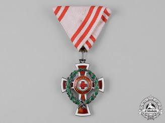 Austria, Imperial. A Decoration for Services to the Red Cross, II Class with War Decoration