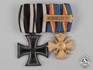 Germany, Imperial. A 4th Bayern Infantry Regiment Medal Pair