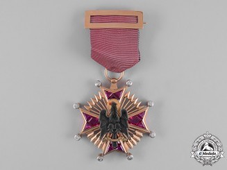Spain, Franco Period. An Order of Cisneros in Gold & Diamonds, Knight Cross, c.1950