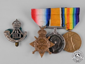 United Kingdom. A First War Trio, to Private Walter Lee, Durham Light Infantry