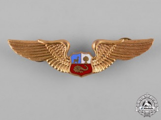 Peru, Republic. An Air Force Pilot Badge