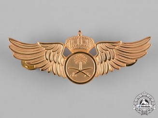 Saudi Arabia, Kingdom. A Royal Saudi Air Force Pilot Badge