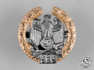 Germany, Third Reich. A Rare Miniature Gau Warthe Badge