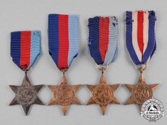 United Kingdom. A Second War Lot of Four Stars