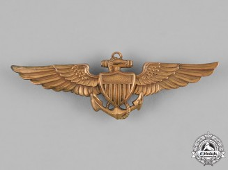 United States. A United States Navy and Marine Corps Naval Aviator Badge, by Balfour