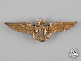 United States. A United States Navy and Marine Corps Naval Aviator Badge, by Amico