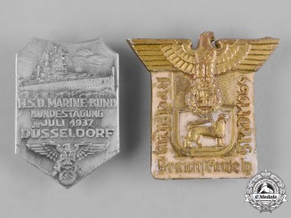 Germany, Third Reich. A Pair of Third Reich Period Commemorative Badges