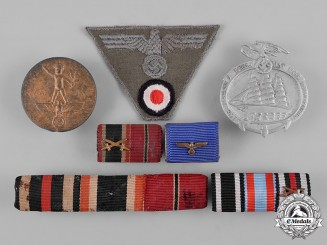 Germany, Wehrmacht. A Lot of Third Reich Ribbon Bars, Cloth Insignia, and Event Badges