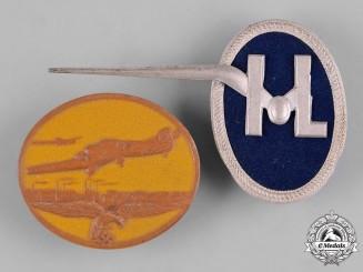 Germany, Luftwaffe. A Pair of Luftwaffe Tinnies