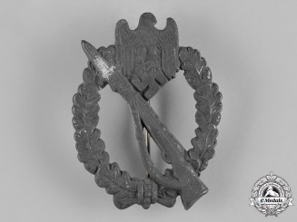 Germany, Wehrmacht. A Silver Grade Infantry Assault Badge by Rudolf Souval