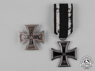 Germany, Imperial. A Pair of 1914 Iron Crosses