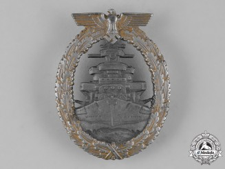 Germany, Kriegsmarine. A High Seas Fleet Badge by Friedrich Orth
