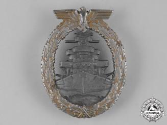 Germany, Kriegsmarine. A High Seas Fleet Badge by Friedrich Orth