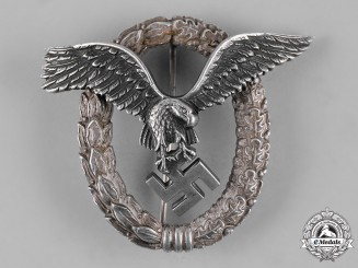 "Germany, Luftwaffe. A Pilot's Badge, by Rare Maker ""OM"""