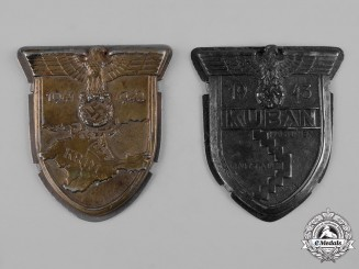Germany, Wehrmacht. A Pair of Campaign Shields