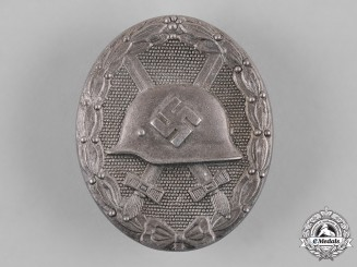 Germany, Wehrmacht. A Wound Badge in Silver by Klein & Quenzer